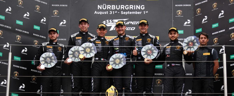 Lamborghini Super Trofeo, twice second places at Nurburgring